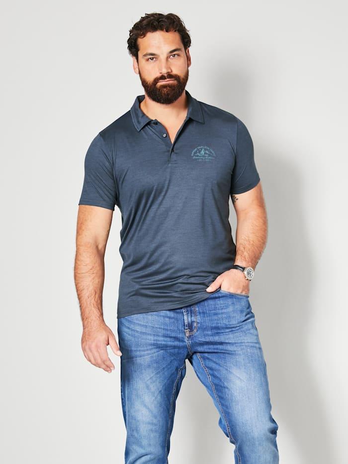 Killtec Poloshirt van sneldrogend materiaal, Donkerblauw