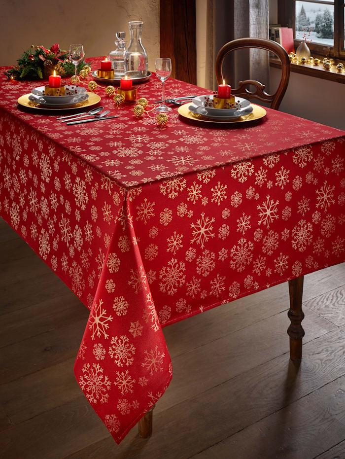 Schäfer Tischwäsche 'Schneeflocke', rot gold