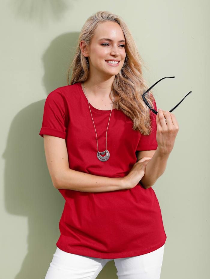 MIAMODA Shirt mit Rundhalsausschnitt, Rot