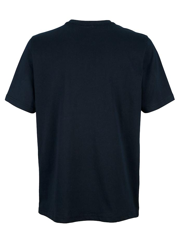 T-shirt med kort knappslå
