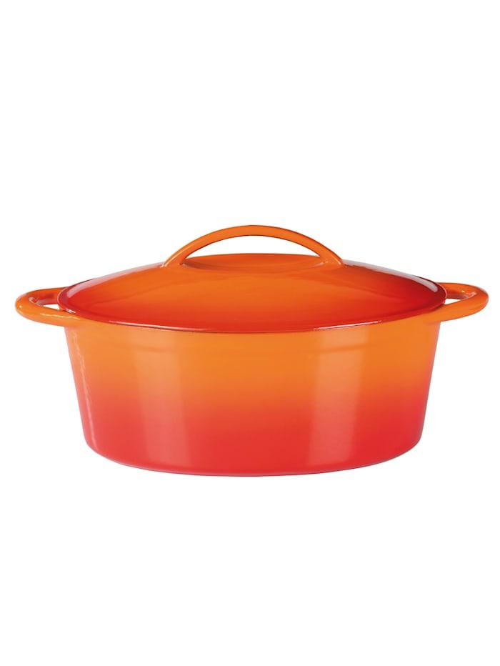 GSW Gusseisen Bräter 33x25cm Orange Shadow, Orange