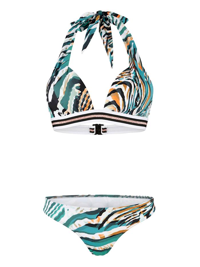 Sunflair Bikini met glitterstrepen, Turquoise
