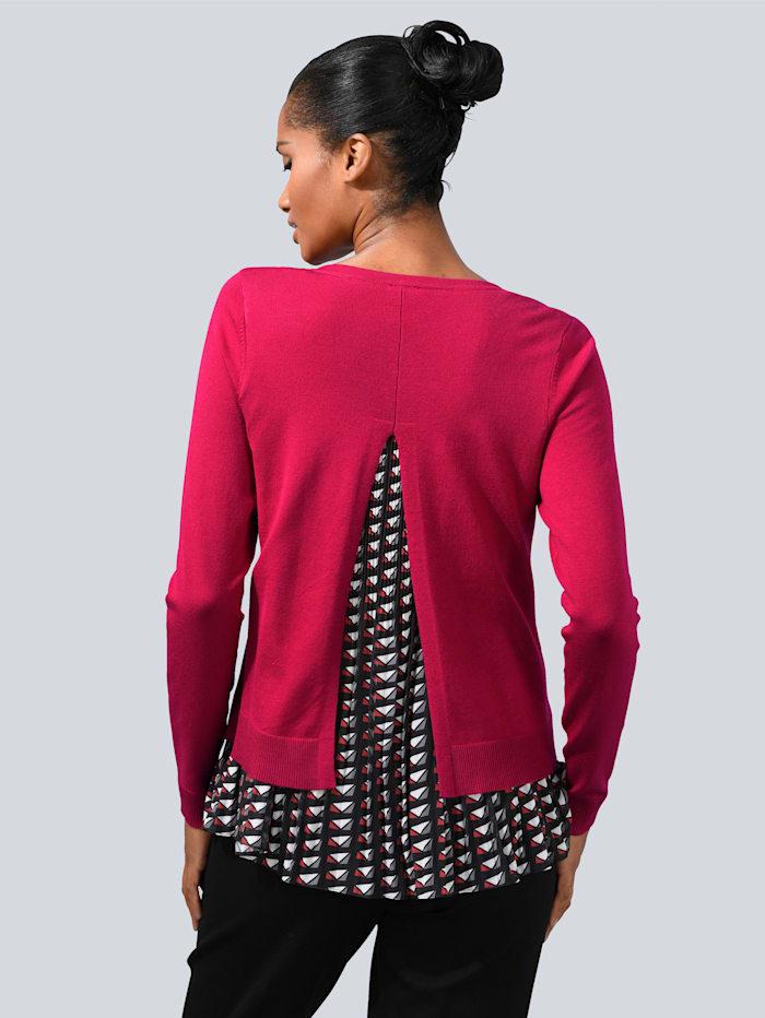 Pullover mit Plissée-Einsatz