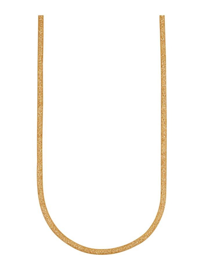 Collier 9 kt. van echt zilver, Geelgoudkleur