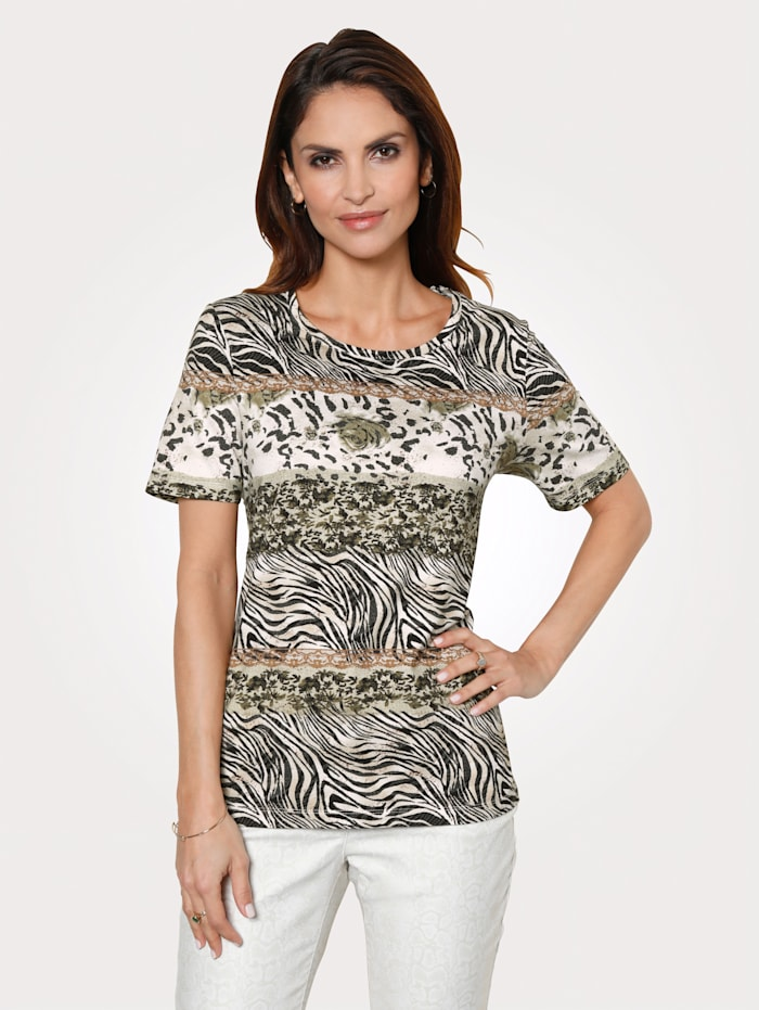 Top with an on-trend animal print