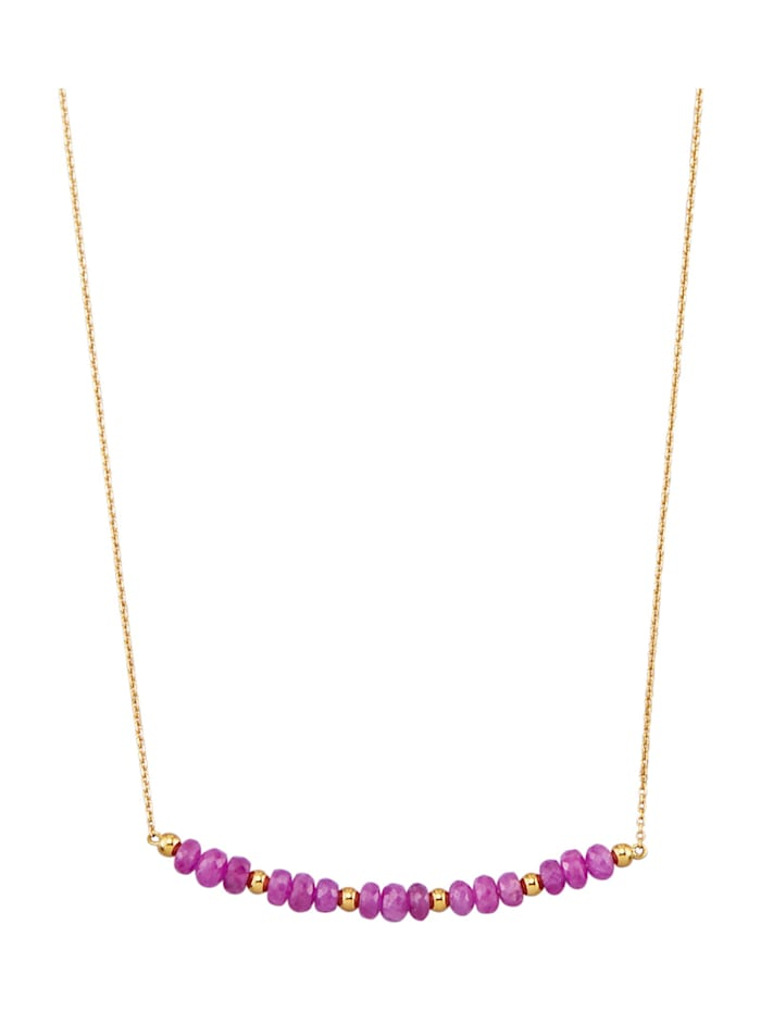 Collier in Gelbgold 375, Rot