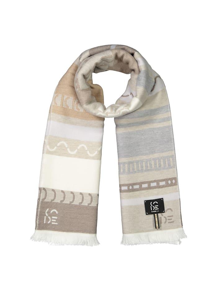 Codello Premium Logo-Schal aus edler Wolle - Made in Italy, Beige