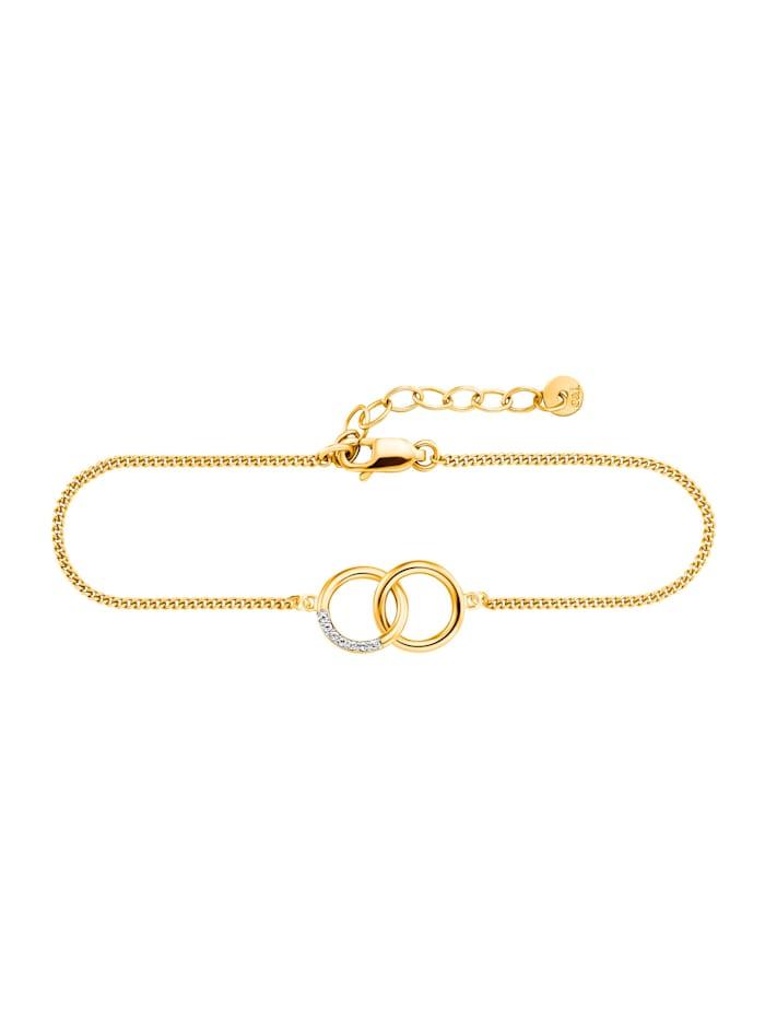 CAI Armband 925/- Sterling Silber Topas 17+3cm Glänzend 0,028ct., gelb