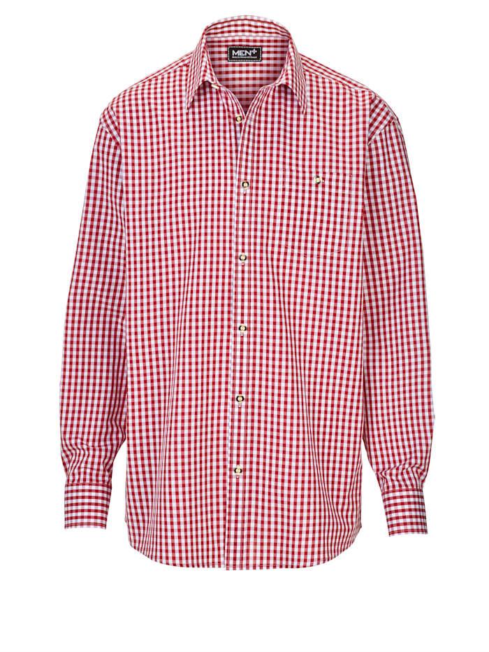 Men Plus Chemise à carreaux traditionnelle, Rouge/Blanc