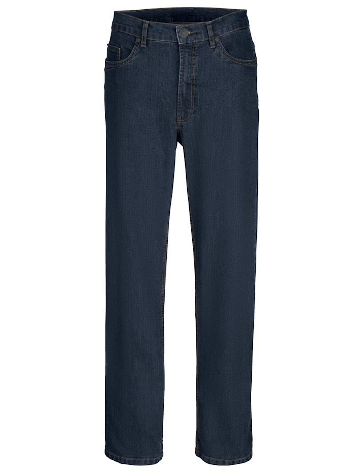Roger Kent 5-Pocket Jeans mit Gürtelschlaufen, Dark blue