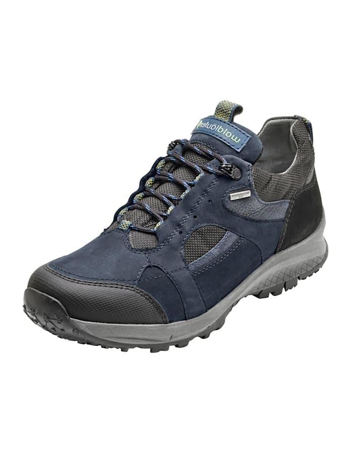 Waldläufer Chaussures de trekking à membrane climatisante respirante, Bleu