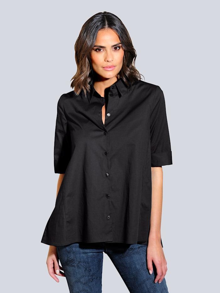 Alba Moda Bluse in ausgestellter Form, Schwarz
