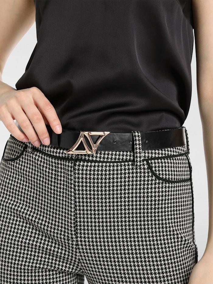 APART Logo-Gürtel mit APART Logo, schwarz-gold