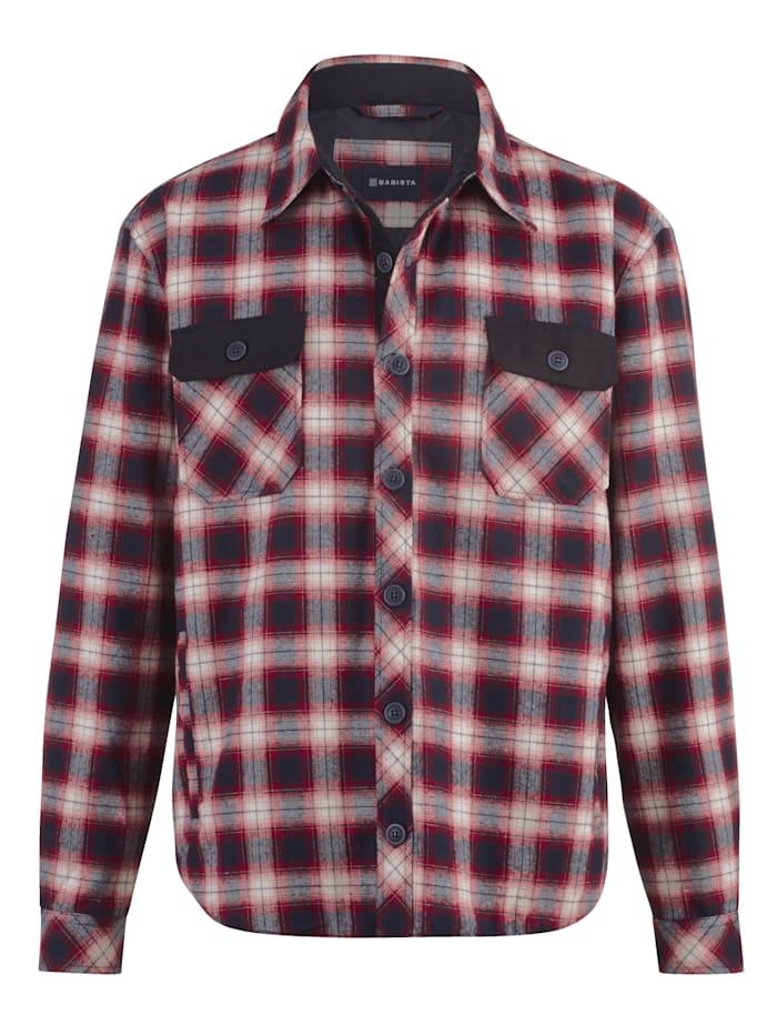 BABISTA Hemdjacke mit 4 praktischen Taschen, Marineblau/Rot