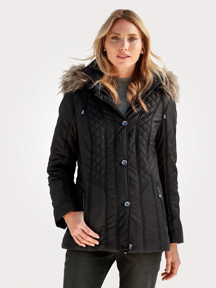 Barbara Lebek Jacket with decorative stitching, Black