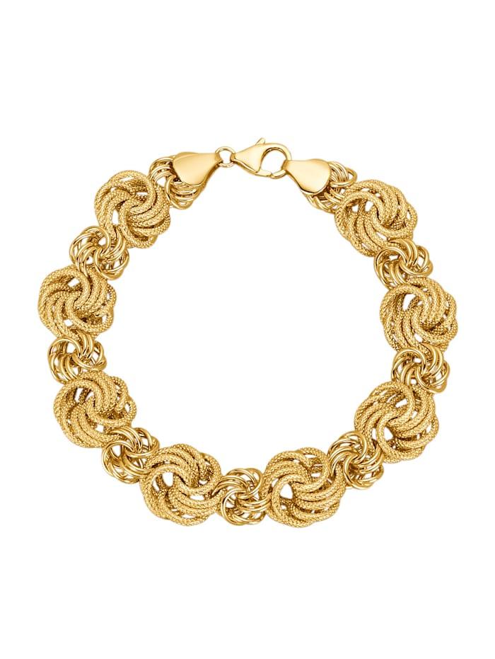 Diemer Gold Bracelet à motif de roses, Coloris or jaune