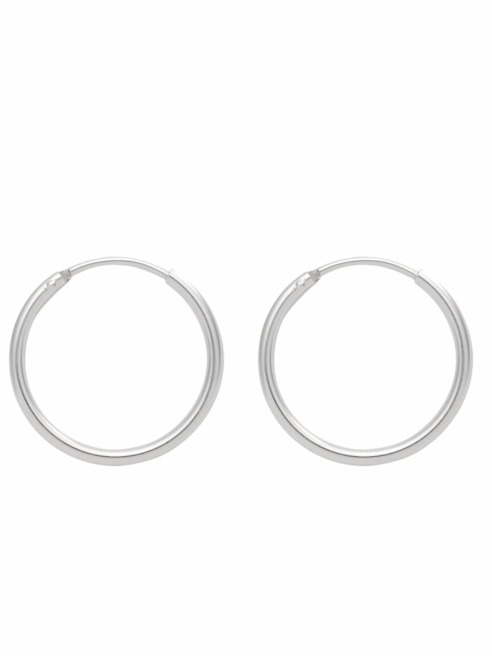 1001 Diamonds 1001 Diamonds Damen Silberschmuck 925 Silber Ohrringe / Creolen Ø 13 mm, silber
