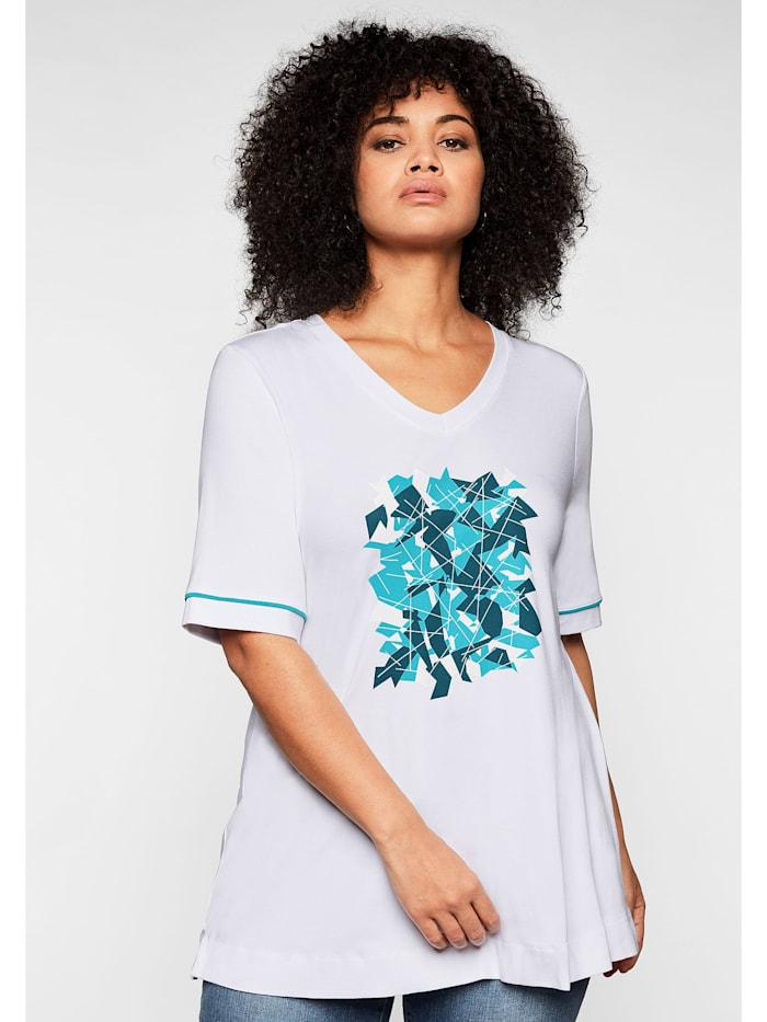 Sheego Shirt aus nachhaltiger Viskose, weiß