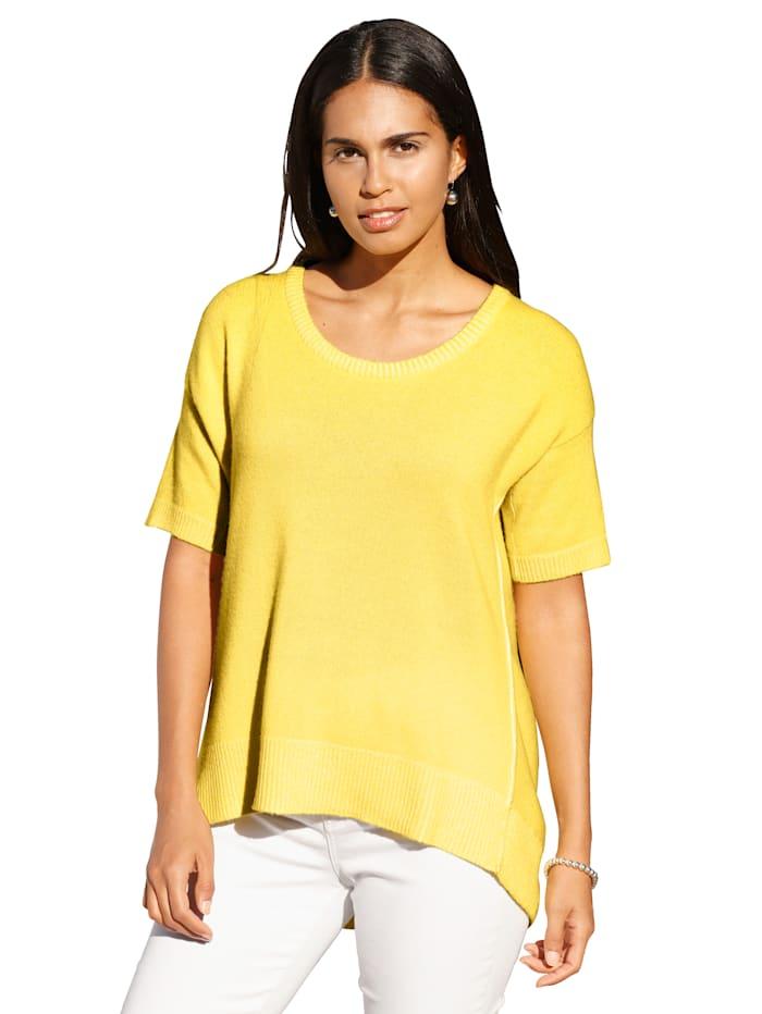 Lieblingsstück Pullover mit kurzen Ärmeln, Gelb