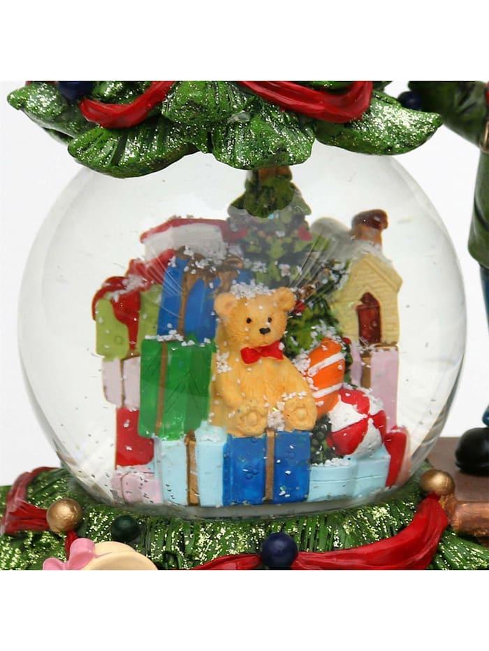 Sigro Schneekugel Kinder am Weihnachtsbaum, Bunt