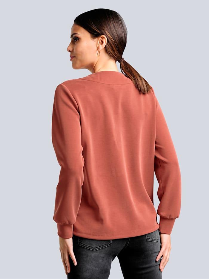 Sweatshirt mit samtigen Warengriff