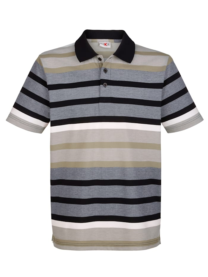 Tričko proužkovaný vzor z barvených vláken