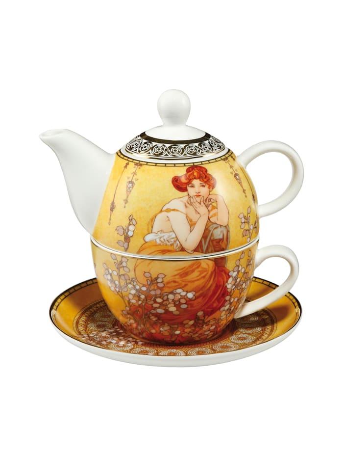 "Goebel Goebel Tea for One Alphonse Mucha - ""Topas"", Mucha - Topas"