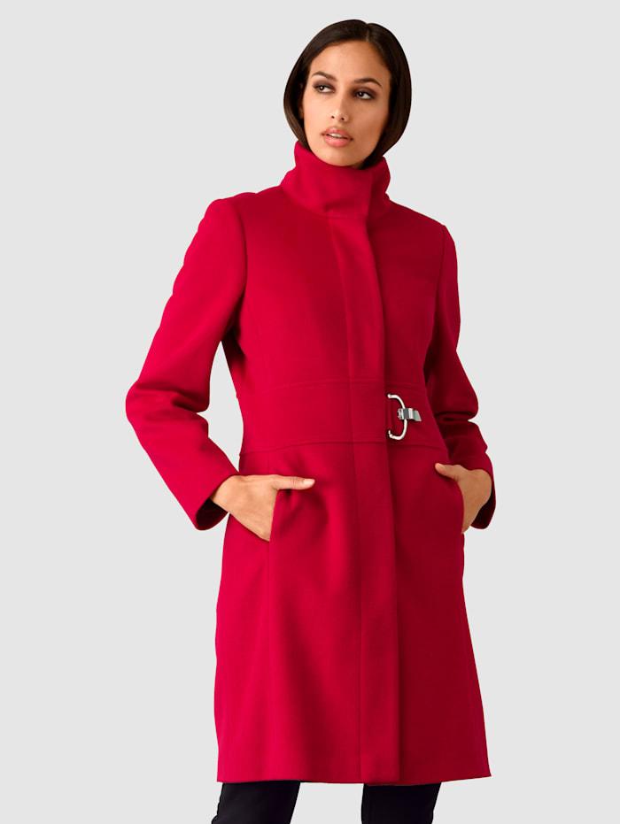 Alba Moda Manteau à boucle fantaisie, Rouge