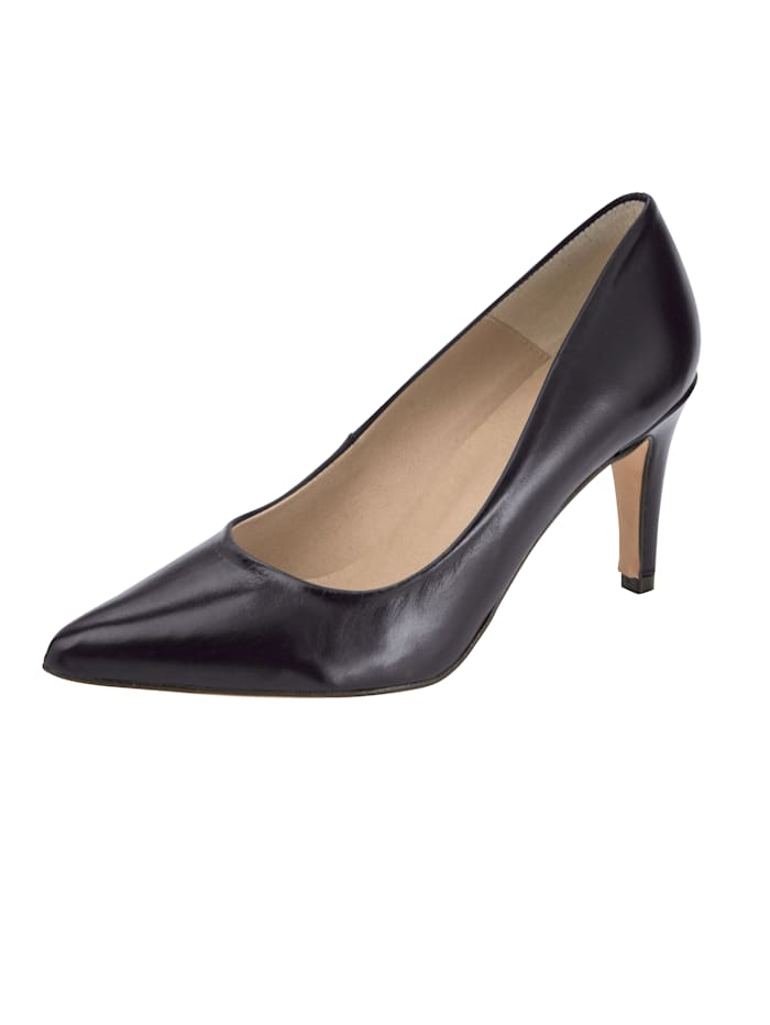 Court shoes made from premium leather, Black