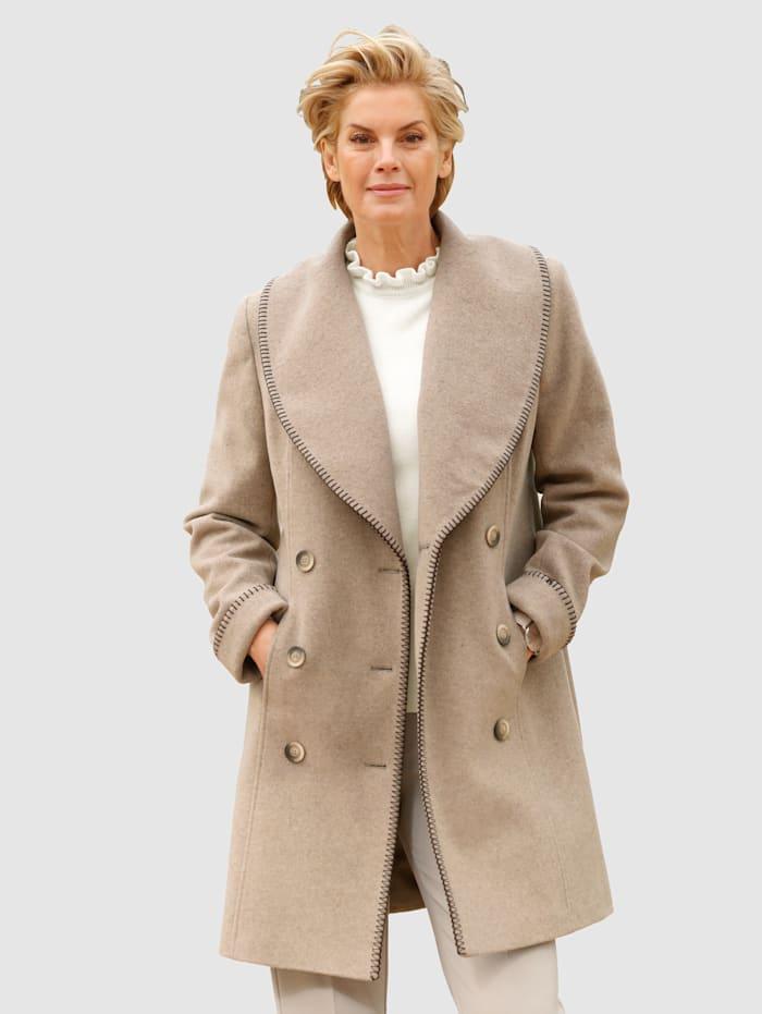 Paola Kort kappa med ull, Mullvad