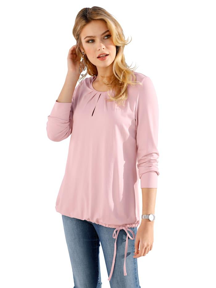 AMY VERMONT Shirt mit dekorativer Faltenlegung, Rosé