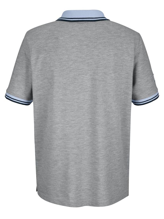 Poloshirt mit Druck und Kontrastdetails