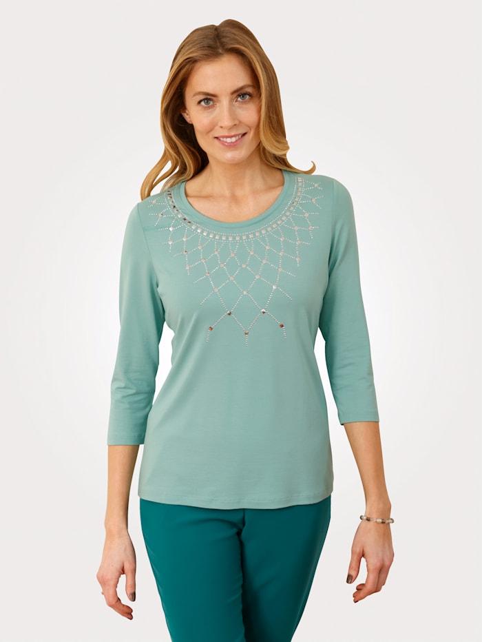 MONA Shirt mit Plättchendeko, Mintgrün