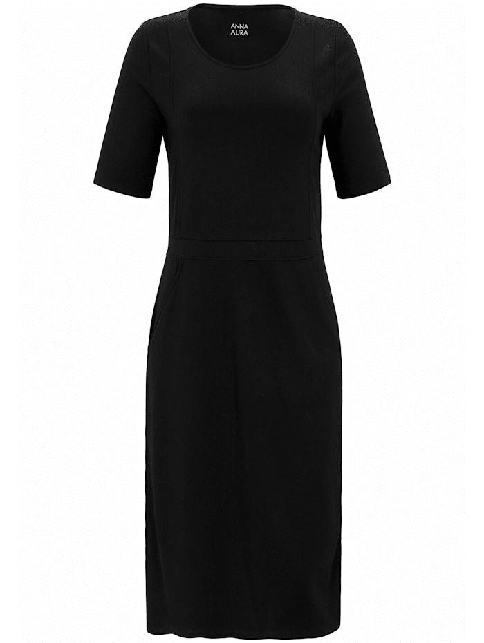Anna Aura Jersey-Kleid mit Taschen, schwarz