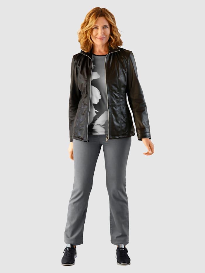 Jeans med elastisk linning