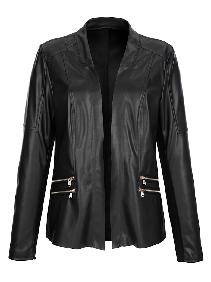 Blazer made from faux leather
