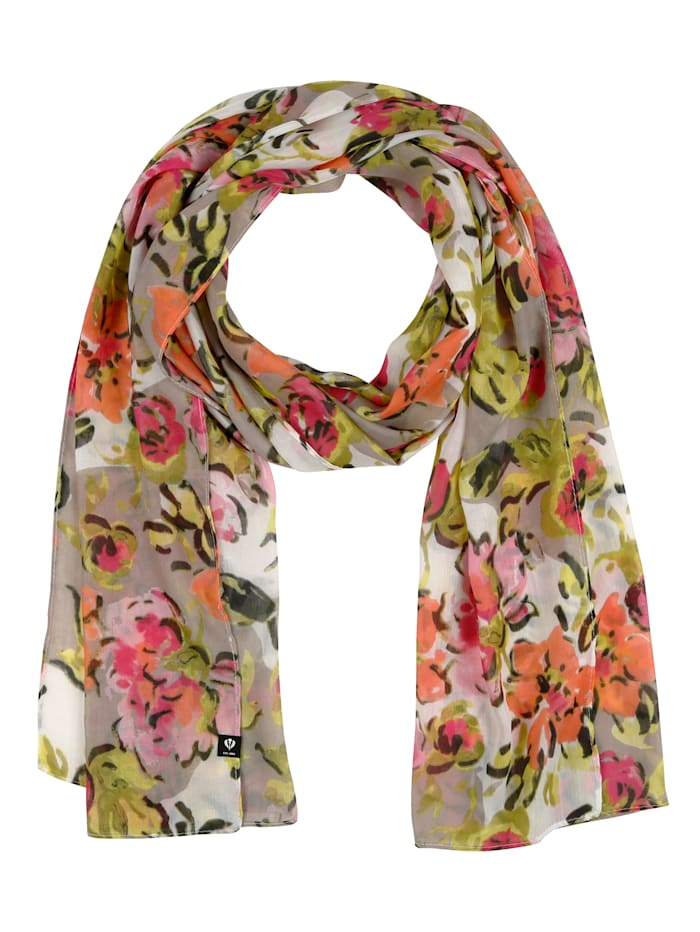 Fraas Scarf, Taupe/Green/Pink