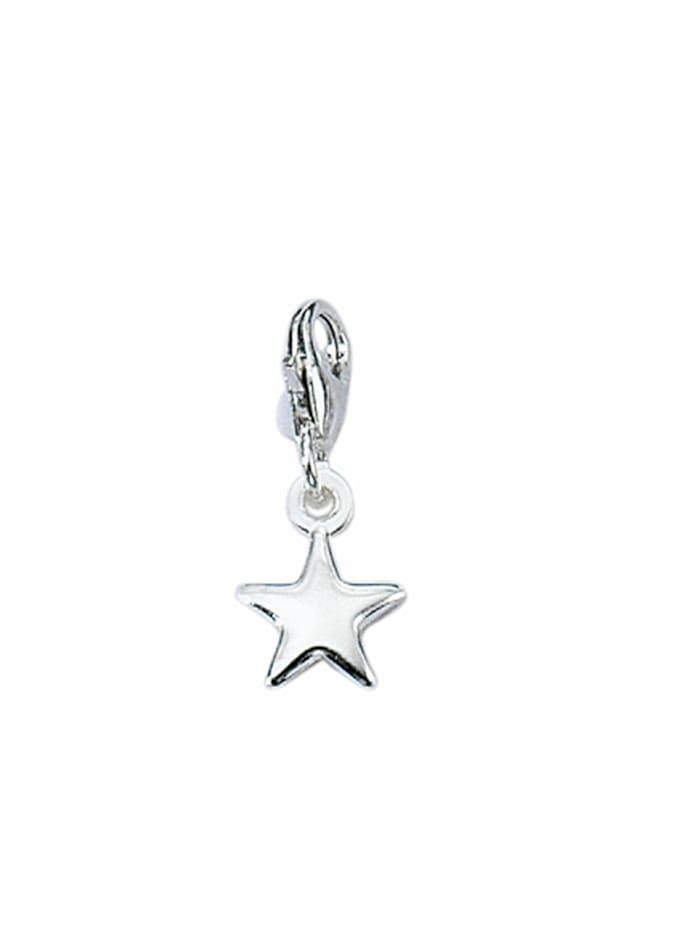1001 Diamonds 1001 Diamonds Damen Silberschmuck 925 Silber Charms Anhänger Stern, silber