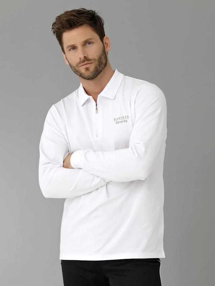 BABISTA Funktionsshirt in Poloshirt-Form, Weiß