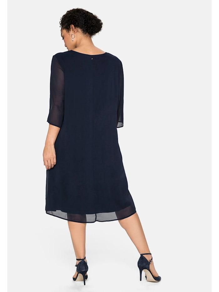 Kleid im Layerlook, aus Chiffon und Viskose