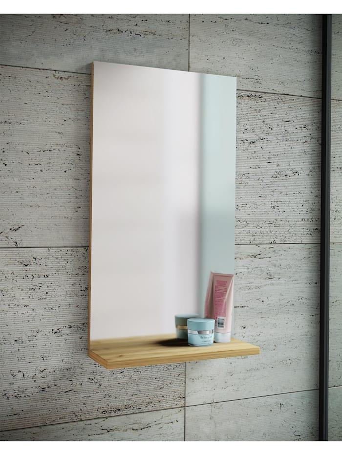 Holz Wand Badspiegel Sesal mit Ablage