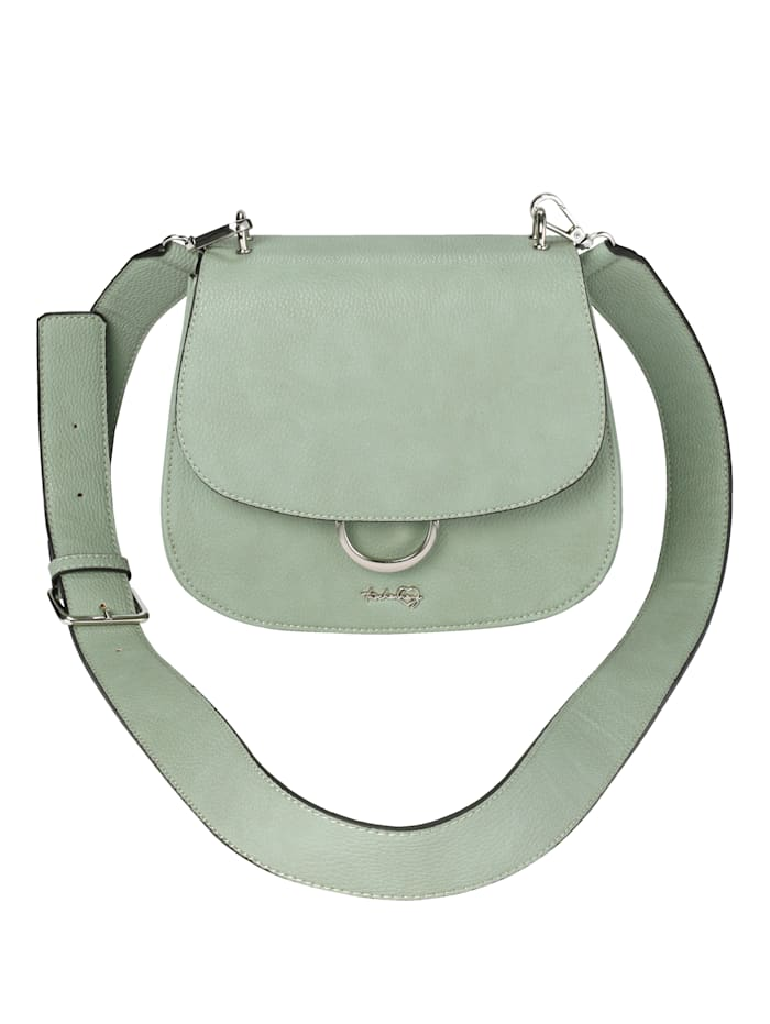 Taschenherz Umhängetasche aus hochwertigem Softmaterial, Salbeigrün