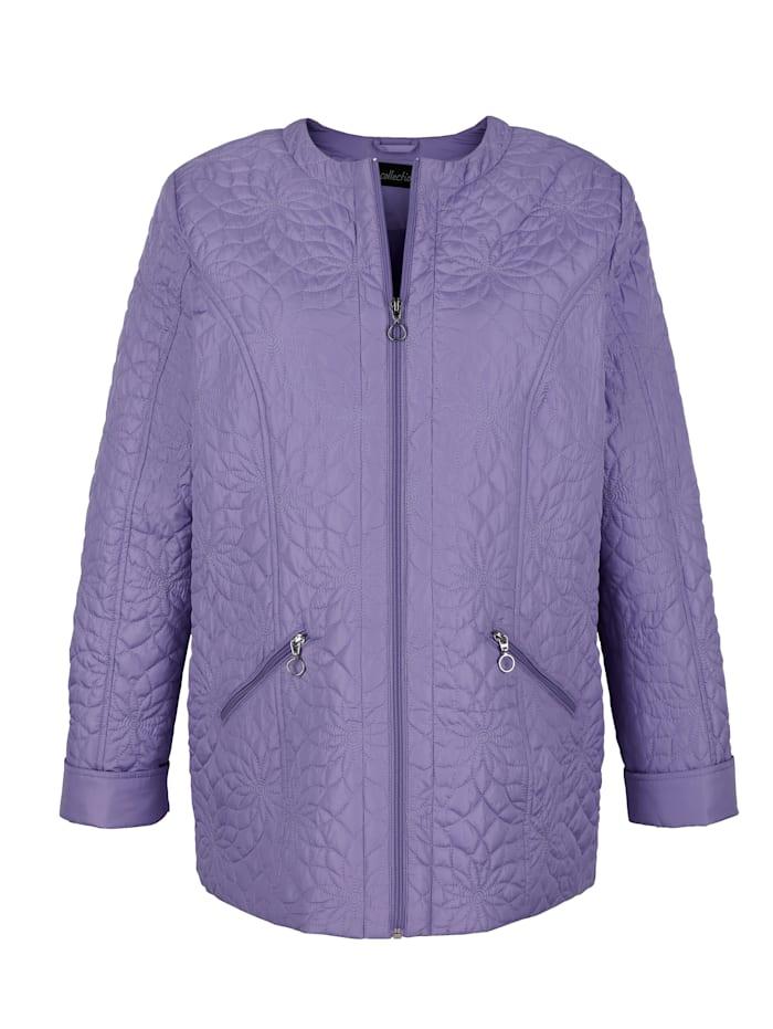 m. collection Gewatteerde jas in licht getailleerd model, Lila