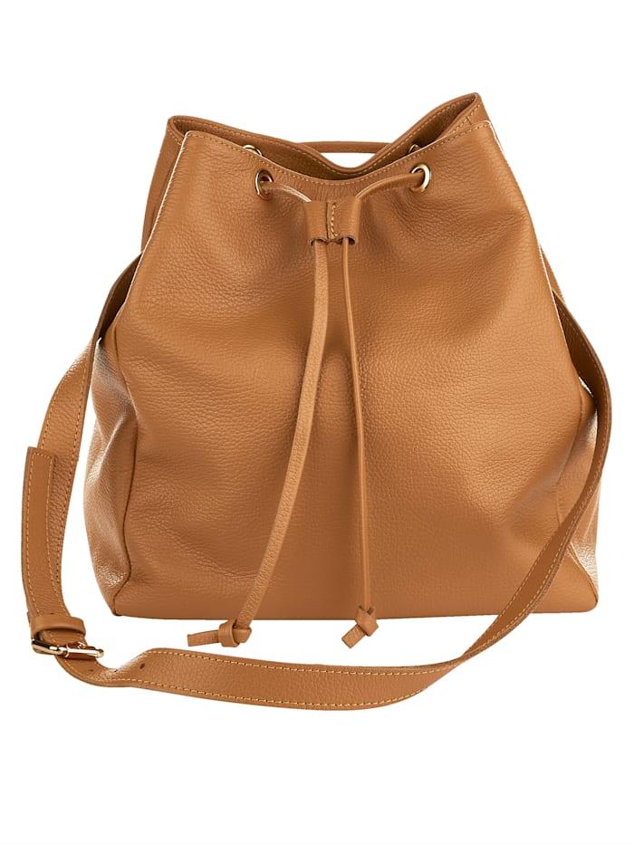 Handbag made from premium-quality leather