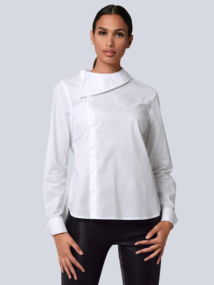 Alba Moda Blouse met brede, platte kraag, Wit