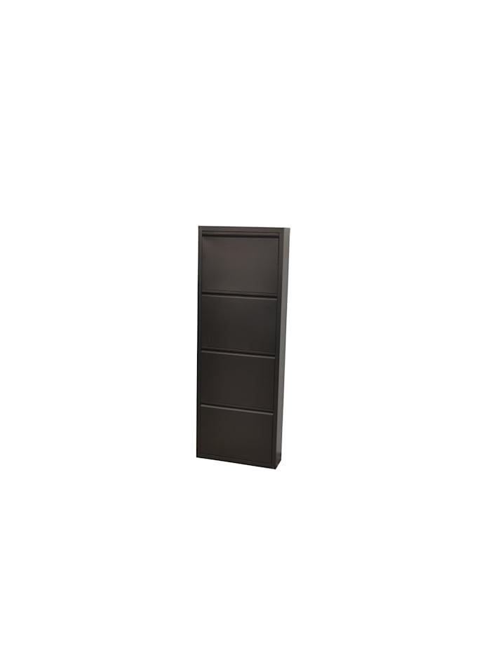 Möbel-Direkt-Online Metallschuhschrank (4Klappen) Sandra, anthrazit