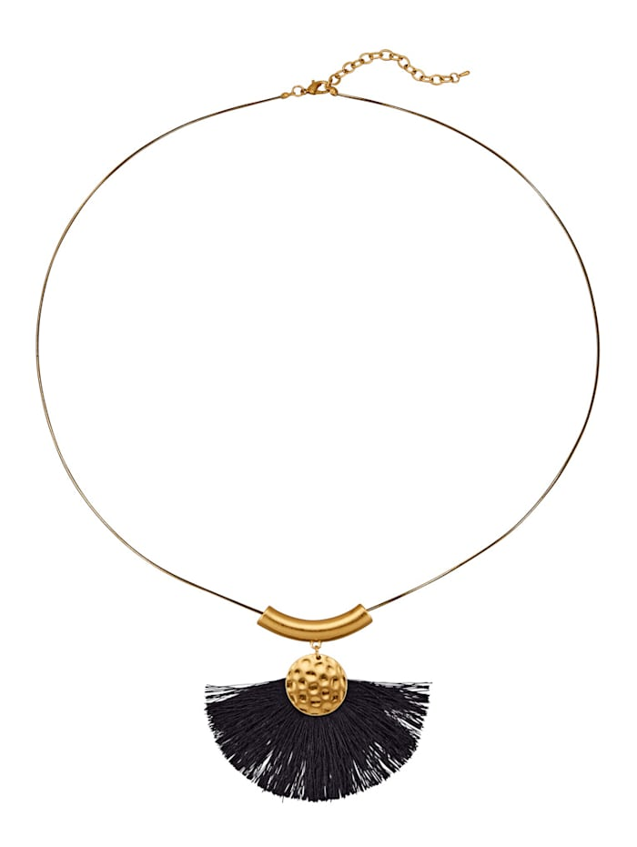 Pendant with Tassel and Chain