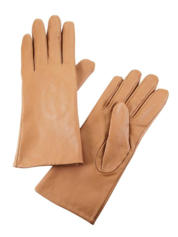 MONA Leren handschoenen, cognac