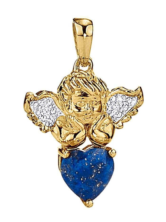 Amara Tendance Pendentif Signe du zodiaque Sagittaire, Bleu