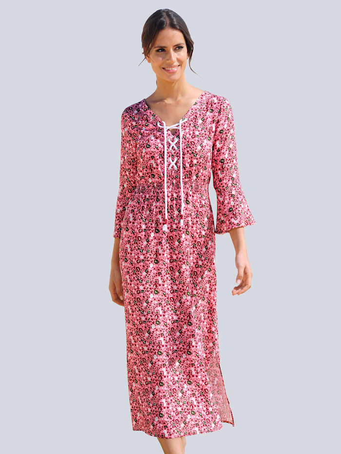 Alba Moda Strandkleid mit Zierkordel, Rosenholz
